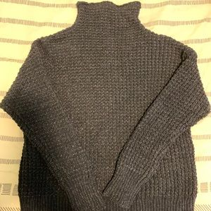 American Eagle Navy Blue Chenille Sweater